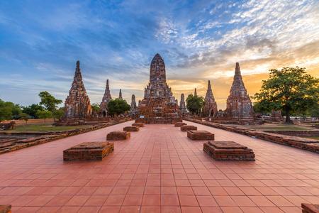 temple wat chaiwatthanaram, ayutthaya, thaïlande (parc historique ayutthaya) Banque d'images