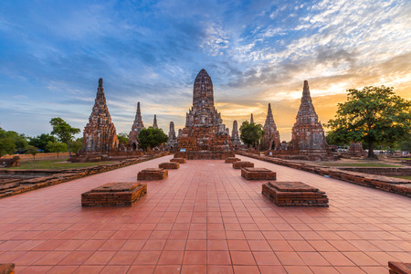 wat chaiwatthanaram temple, ayutthaya, thailand (ayutthaya historical park ) Standard-Bild