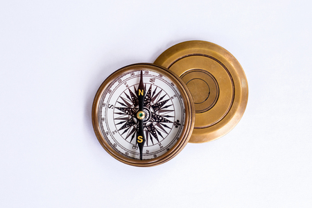 isoleted: Compass on isoleted white background.