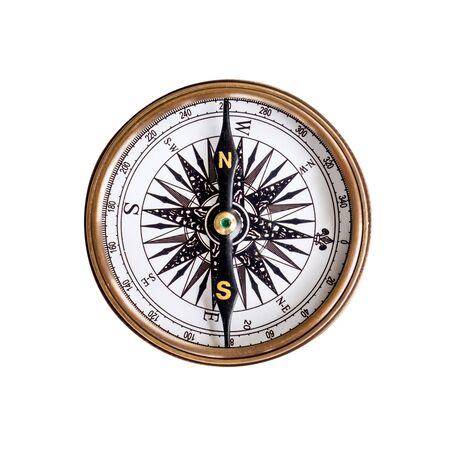 Compass on isoleted white background