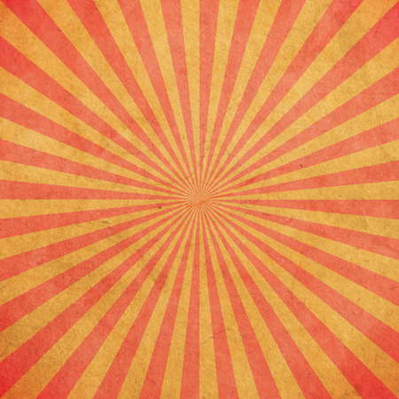Red and yellow sunburst vintage and pattern background with space.