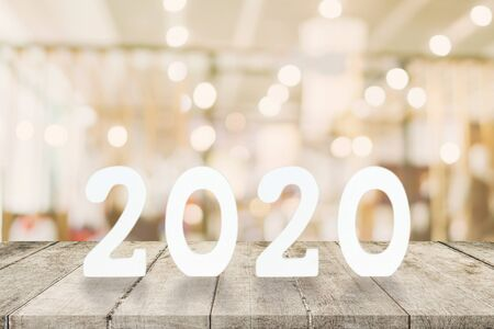 2020 New Year concept - wooden word