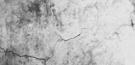 Panorama of cement and concrete wall background texture with space.