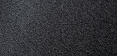 Panorama black leather texture and background with copy space 免版税图像