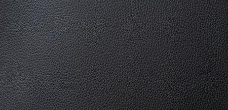 Panorama schwarze Lederbeschaffenheit und Hintergrund mit Kopienraum Standard-Bild