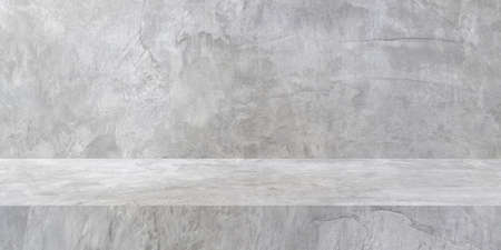 concrete texture table product display background with copy space.