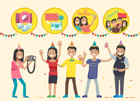 personally: How to take pictures in the party. Illustration