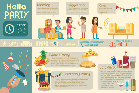 introduction: Introduction about party.Graphic design