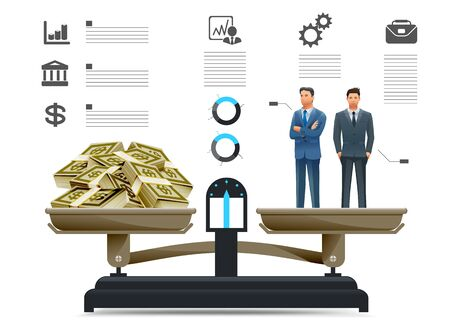 whose: The quality of the businessman in info-graphics style. Economic growth comes with investor. Employees whose performance is worth the wages more paid.