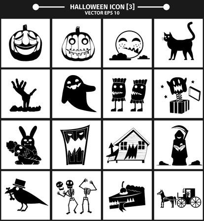 03: Halloween icon collection version 03. vector Illustration,Graphic Design Illustration