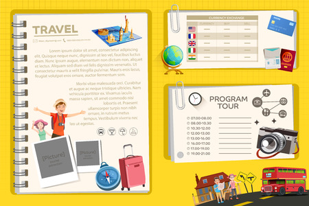 tour guide: Guide Book of International place. The recommended travel destinations. info-graphic style.