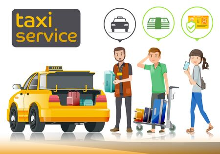 produced: The tourist running Taxi to airport baggage handlers was produced.