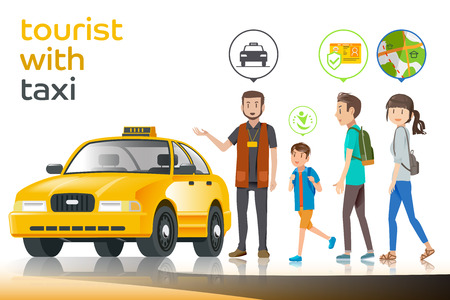 Tourists choose to travel by taxi  with a driver who has been licensed driver. Short trips in city.