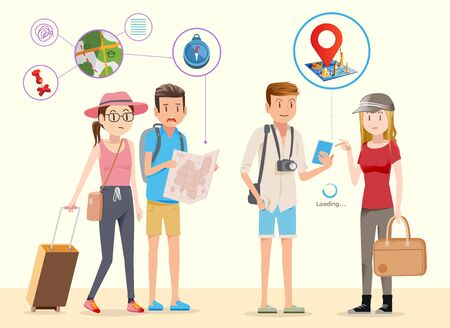 fluent: Using Internet to help travel. Convenience Voyage. Difficulties in the use of technology is not fluent.