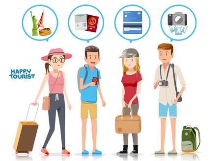 destinations: Tourism planning to travel.The destinations of tourist. Consultation for a long trip.