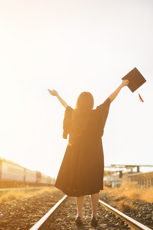 feels good: Graduate feels good to finish my bachelors degree. She went on to train