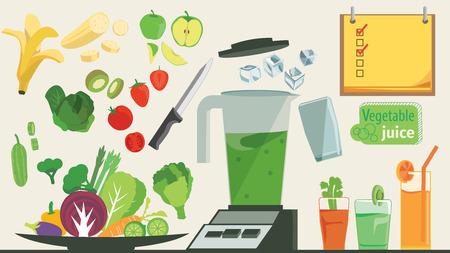 야채와 과일의 정보를 그래픽. 즉, 물, 야채와 과일에 혼합 할 수 있습니다. 스톡 콘텐츠 - 64064260
