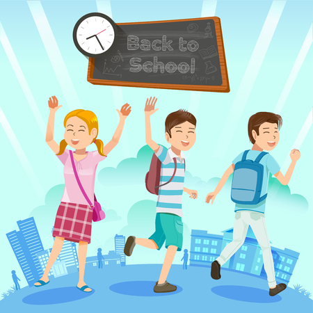 Back to school. Get ready for new activities. The challenges of student life. Goal in the lives of kids.