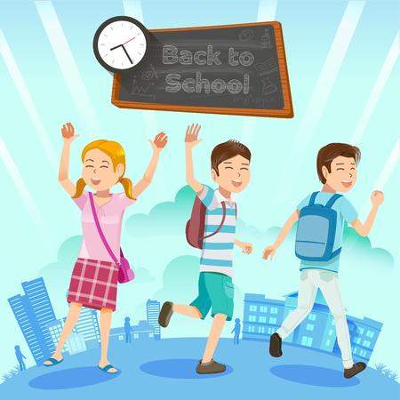 Terug naar school. Maak je klaar voor nieuwe activiteiten. De uitdagingen van het studentenleven. Doel in het leven van kinderen.