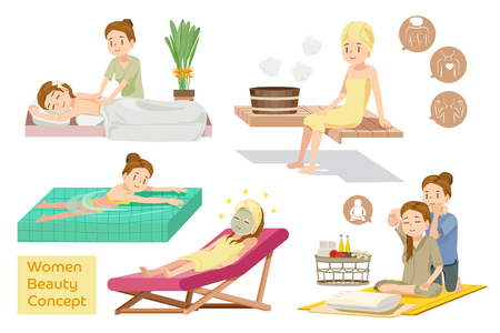 facial massage: Women Beauty Concept. Spa courses. Health Care. Character of relax people. Tourism and recreation. Modern lifestyle.