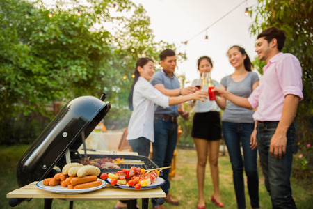 The celebrations with a barbecue