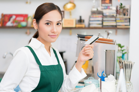 Owner Credit card is used to pay for food and coffee.