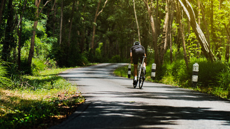 male cyclist at outdoor