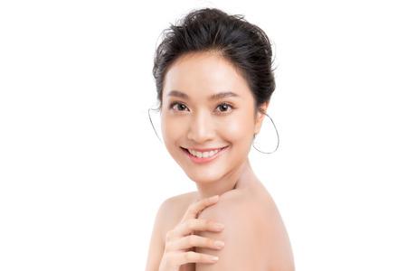 Retrato, de, hermoso, asiático, mujer joven