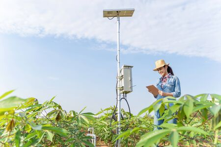Farmers are planning to farm on a tablet using technology to provide fertilizer.