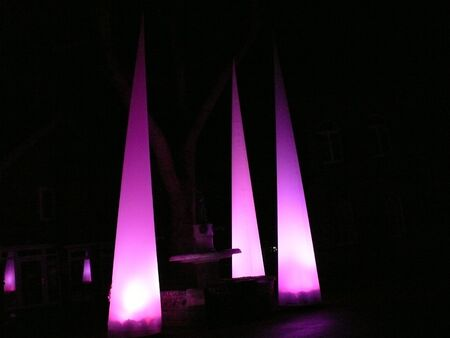 pointy: purple pointy cone at night