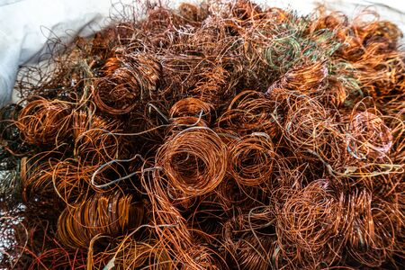 copper wire scrap from electric cable recycling with selective focus