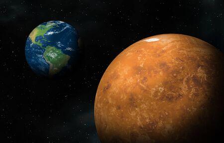 Between Earth and Venus