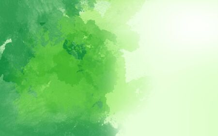 Abstract Water Color,Green Paint