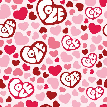 illustrate i: Hearts seamless pattern background, can be used for celebrations, wedding invitation, mothers day and valentines day
