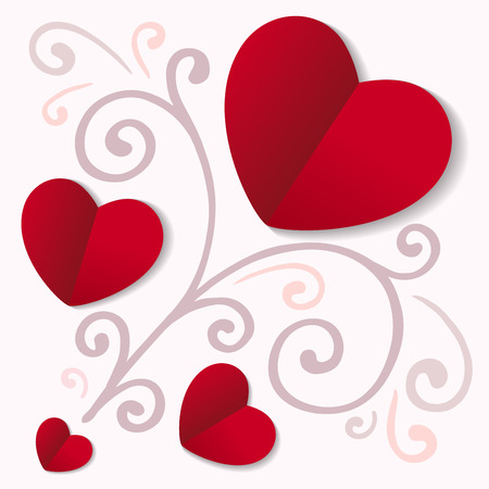Hearts card, can be used for celebrations, wedding invitation, mothers day and valentines day