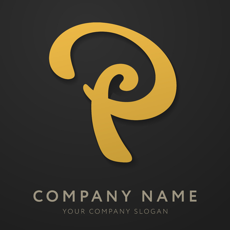 Abstract letter P logo template. Letter P logo for business, consulting, finance, agency, and others. Vector graphic creative line alphabet symbol.