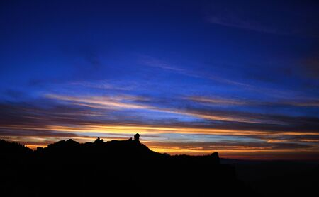 Sunset on Natural park Roque Nublo, Gran canaria photo