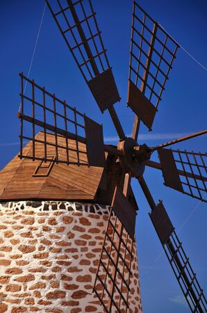 gristmill: Old windmill of Fuerteventura, Canary islands