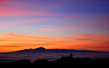canary: Colorful sunset, Canary islands Stock Photo