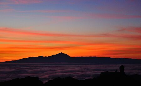 chromatic colour: Colorful sunset, Canary islands Stock Photo