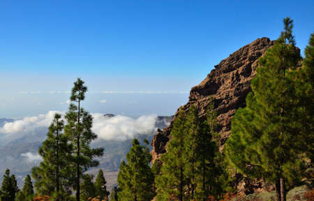 canary islands: Mountain landscape, Canary islands