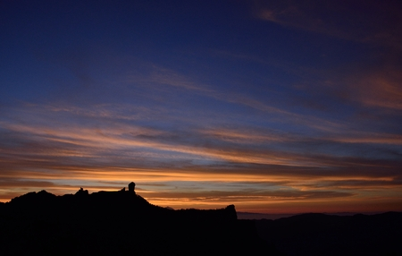 gloaming: Amazing sky at sunset, summit of Gran canaria, Canary islands