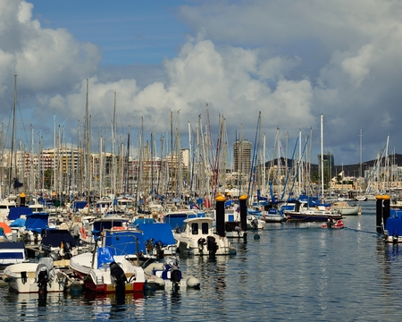 Leisure port of Las Palmas, Gran canaria, Canary islands Stock Photo
