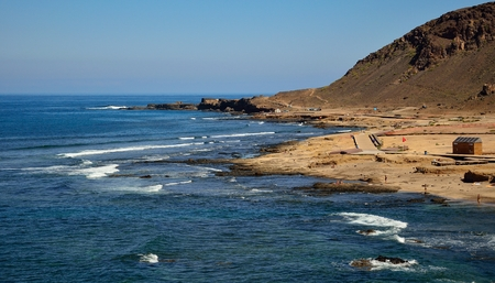 The Confital, semi-wild beach of Las Palmas of Gran canaria, Canary islands