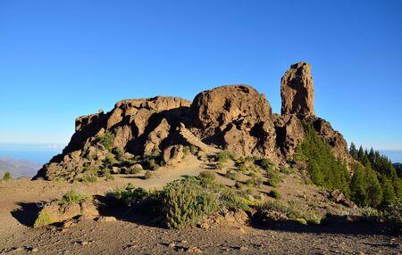 gran canaria: Rocky landscape of Roque Nublo, summit of Gran canaria, Canary islands
