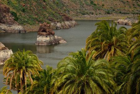 The Sorrento, Tirajana ravine, Santa lucia of Gran Canaria, Canary Islands 스톡 콘텐츠