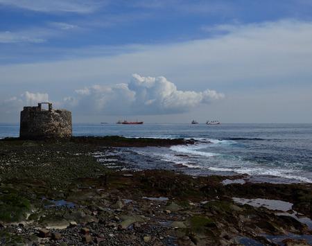 Castle of San Cristobal and bay of Las Palmas de Gran Canaria, Canary Islands