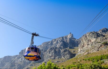 Cableway and car up to Table Mountain, Cape Town, South Africa