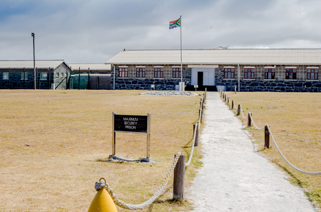 robben island: ROBBEN ISLAND, SOUTH AFRICA - DECEMBER 19, 2016: Photo of Robben Island Maximum Security Prison where Nelson Mandela, later President of South Africa was incarcerated for 18 years.