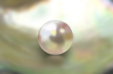 Abstract mother of pearl oyster shell background with single nacreous shine pearl